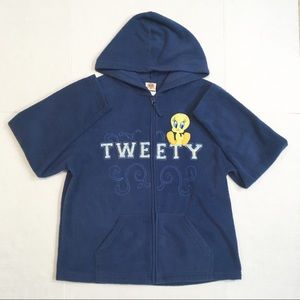 Looney Tunes Tweety Bird fleece blue hoodie
